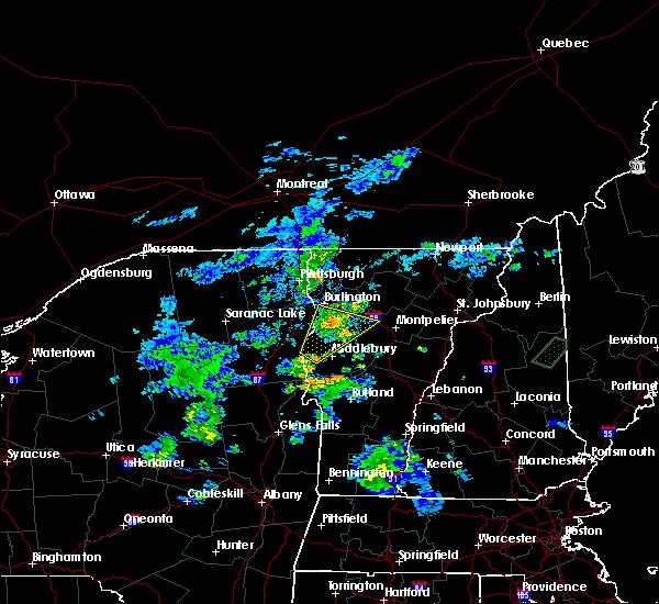 Radar Image for Severe Thunderstorms near Hinesburg, VT at 8/7/2019 7:53 PM EDT