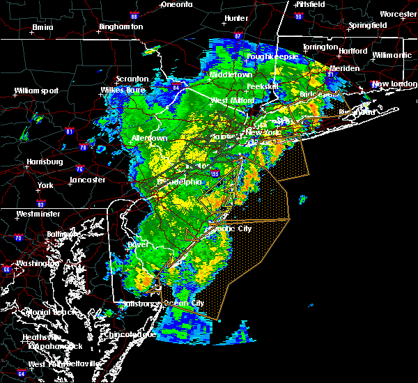 Radar Image for Severe Thunderstorms near Silver Ridge, NJ at 8/7/2019 7:58 PM EDT
