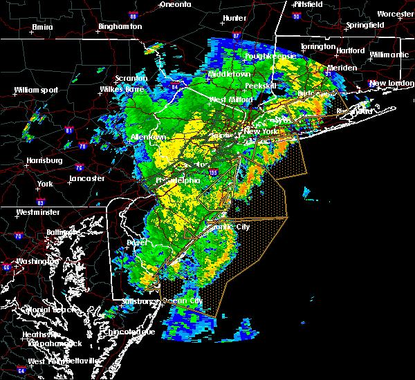 Radar Image for Severe Thunderstorms near Silver Ridge, NJ at 8/7/2019 8:11 PM EDT
