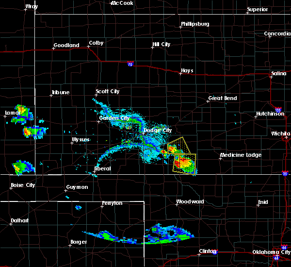 Radar Image for Severe Thunderstorms near Coldwater, KS at 8/7/2019 7:41 PM CDT