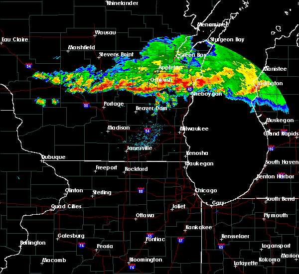 Radar Image for Severe Thunderstorms near Endeavor, WI at 8/7/2019 8:21 PM CDT