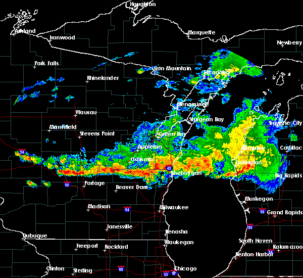 Radar Image for Severe Thunderstorms near Manitowoc, WI at 8/7/2019 8:37 PM CDT