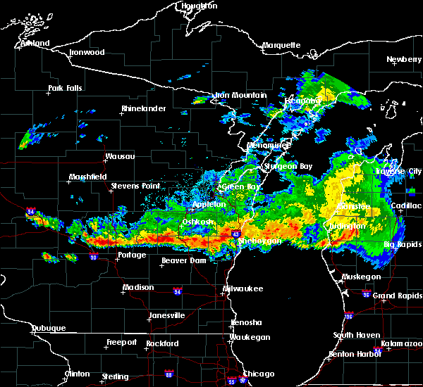 Radar Image for Severe Thunderstorms near Cleveland, WI at 8/7/2019 8:45 PM CDT