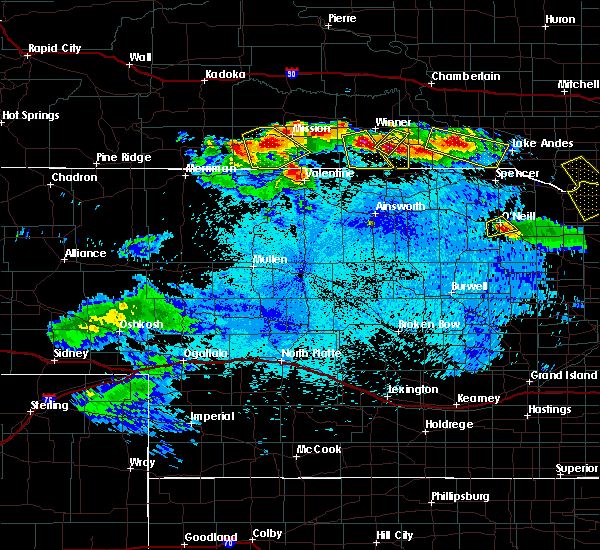 Radar Image for Severe Thunderstorms near St. Francis, SD at 8/7/2019 11:09 PM CDT