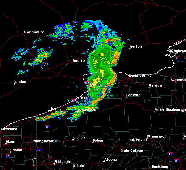 Radar Image for Severe Thunderstorms near Fairport, NY at 8/8/2019 11:53 AM EDT