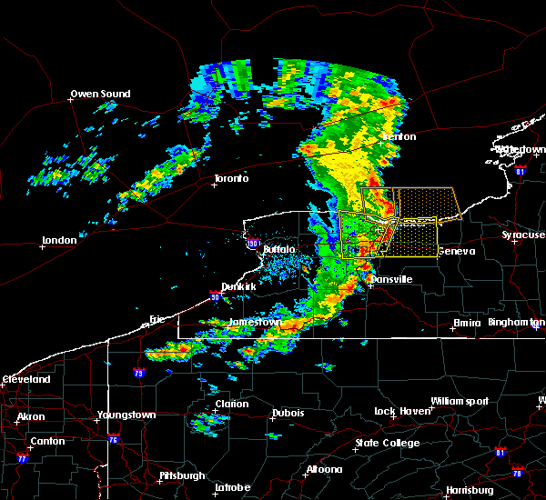 Radar Image for Severe Thunderstorms near Prattsburgh, NY at 8/8/2019 12:42 PM EDT