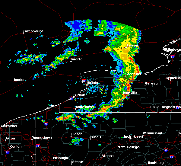 Radar Image for Severe Thunderstorms near Fairport, NY at 8/8/2019 12:55 PM EDT