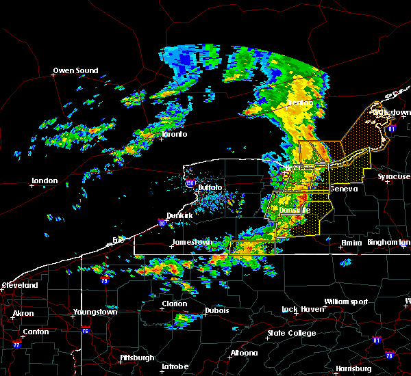 Radar Image for Severe Thunderstorms near Scio, NY at 8/8/2019 1:12 PM EDT