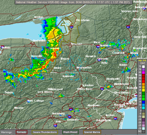 Radar Image for Severe Thunderstorms near Fairmount, NY at 8/8/2019 2:02 PM EDT