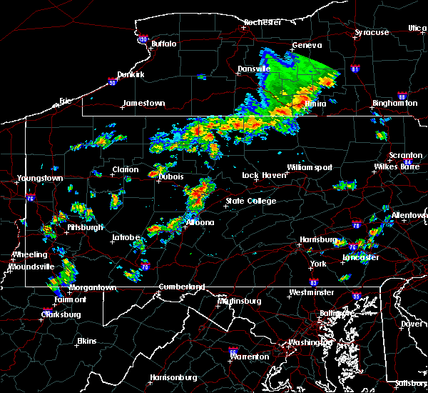 Radar Image for Severe Thunderstorms near Hawk Run, PA at 8/8/2019 2:28 PM EDT