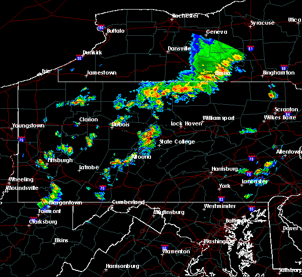 Radar Image for Severe Thunderstorms near Moshannon, PA at 8/8/2019 2:40 PM EDT