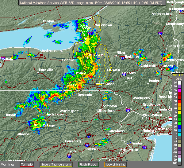 Radar Image for Severe Thunderstorms near Greens Landing, PA at 8/8/2019 2:59 PM EDT