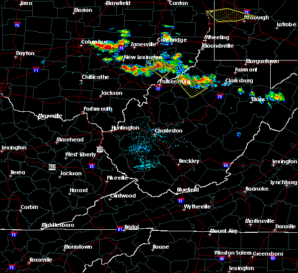 Radar Image for Severe Thunderstorms near Chesterhill, OH at 8/8/2019 4:36 PM EDT