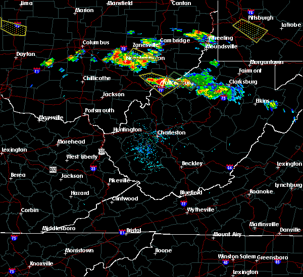 Radar Image for Severe Thunderstorms near Cairo, WV at 8/8/2019 5:25 PM EDT