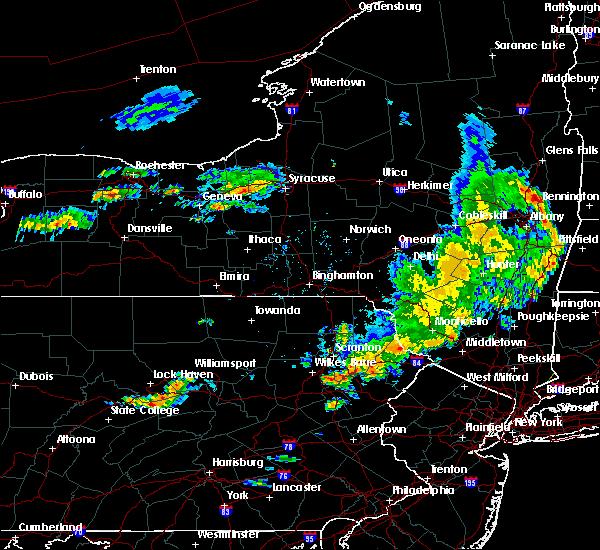 Radar Image for Severe Thunderstorms near Scranton, PA at 8/8/2019 5:50 PM EDT