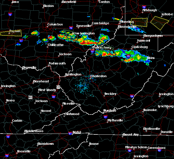 Radar Image for Severe Thunderstorms near Chesterhill, OH at 8/8/2019 6:08 PM EDT