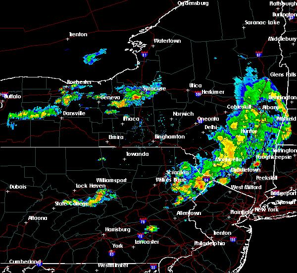 Radar Image for Severe Thunderstorms near Scranton, PA at 8/8/2019 6:14 PM EDT