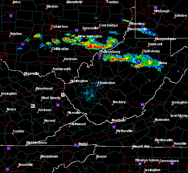 Radar Image for Severe Thunderstorms near Parkersburg, WV at 8/8/2019 6:27 PM EDT