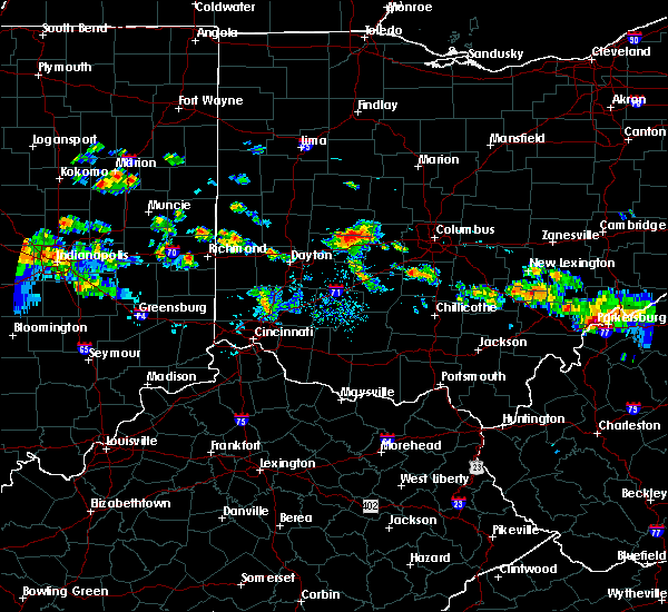 Radar Image for Severe Thunderstorms near Springfield, OH at 8/8/2019 6:36 PM EDT