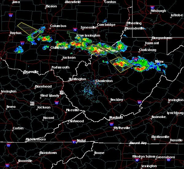 Radar Image for Severe Thunderstorms near Parkersburg, WV at 8/8/2019 6:45 PM EDT