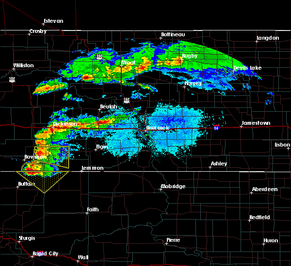 Radar Image for Severe Thunderstorms near Regent, ND at 6/21/2015 6:19 PM MDT
