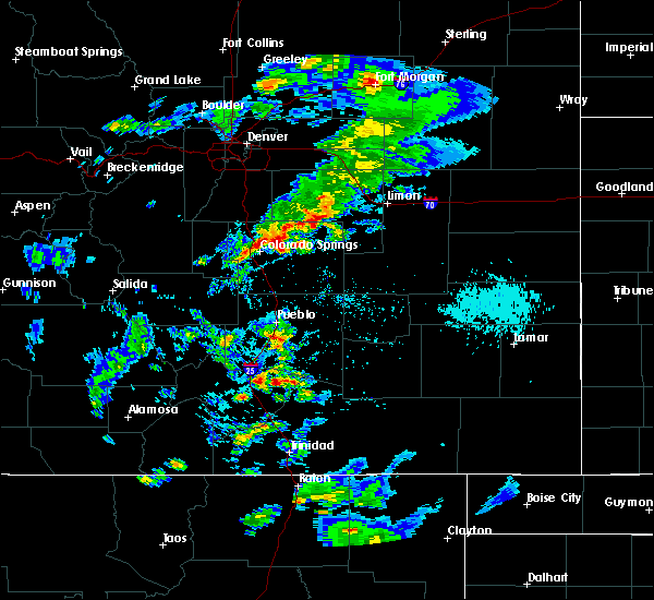 Radar Image for Severe Thunderstorms near Ramah, CO at 8/8/2019 5:07 PM MDT