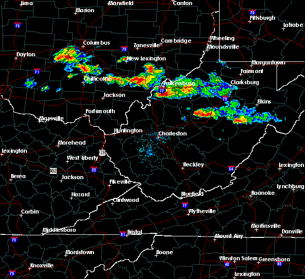 Radar Image for Severe Thunderstorms near Parkersburg, WV at 8/8/2019 7:10 PM EDT