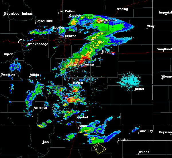 Radar Image for Severe Thunderstorms near Ellicott, CO at 8/8/2019 5:11 PM MDT