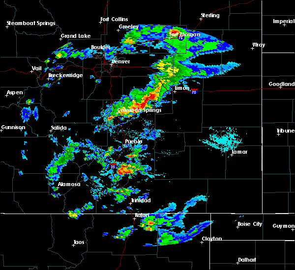 Radar Image for Severe Thunderstorms near Ramah, CO at 8/8/2019 5:23 PM MDT