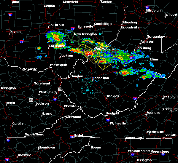 Radar Image for Severe Thunderstorms near Parkersburg, WV at 8/8/2019 7:46 PM EDT