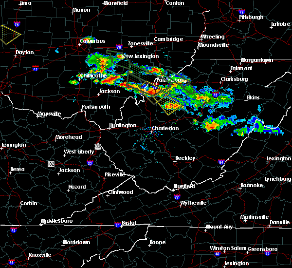 Radar Image for Severe Thunderstorms near Mineralwells, WV at 8/8/2019 8:09 PM EDT