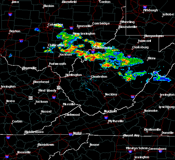 Radar Image for Severe Thunderstorms near Mineralwells, WV at 8/8/2019 8:26 PM EDT