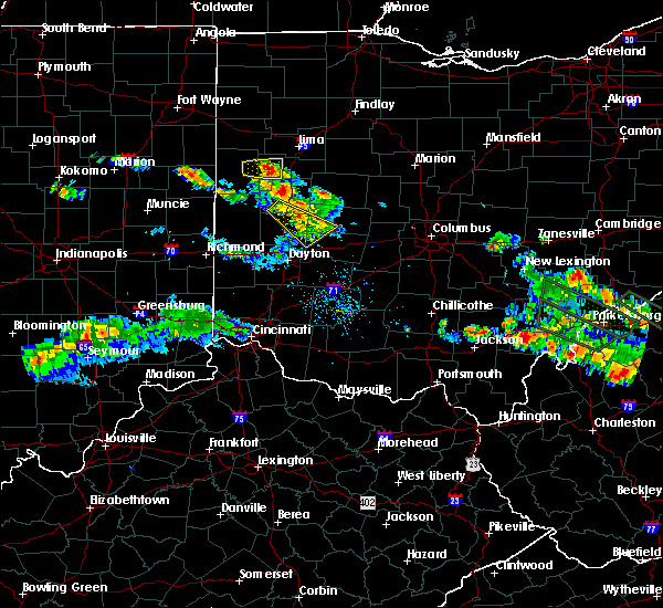 Radar Image for Severe Thunderstorms near Fletcher, OH at 8/8/2019 8:46 PM EDT