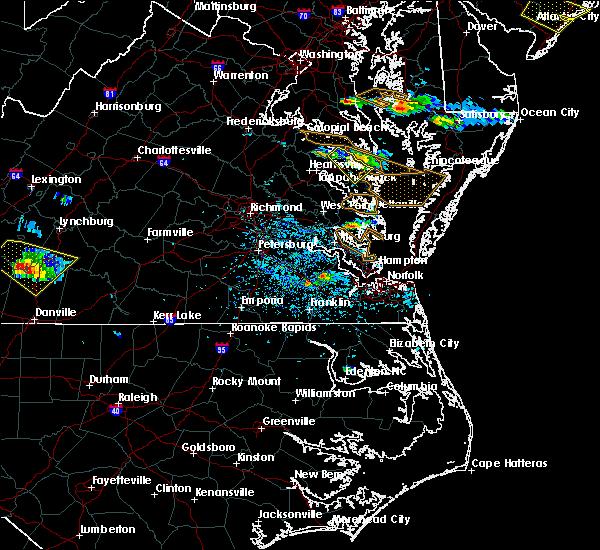 Radar Image for Severe Thunderstorms near Heathsville, VA at 8/9/2019 4:30 PM EDT