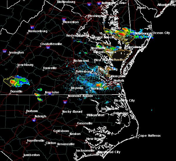 Radar Image for Severe Thunderstorms near Heathsville, VA at 8/9/2019 4:50 PM EDT