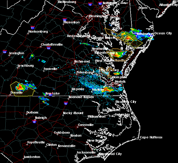 Radar Image for Severe Thunderstorms near Virginia Beach, VA at 8/9/2019 5:18 PM EDT