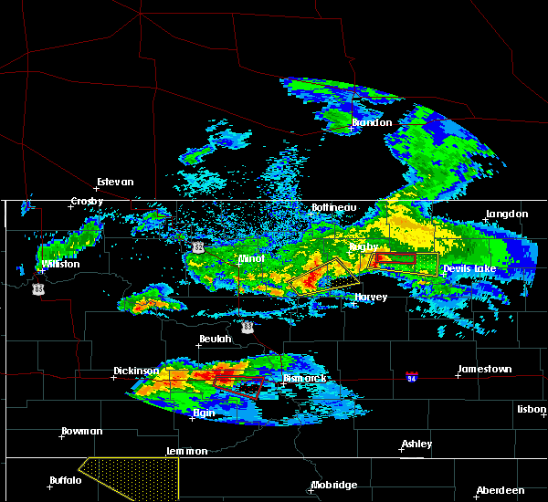 Radar Image for Severe Thunderstorms near Leeds, ND at 6/21/2015 7:58 PM CDT