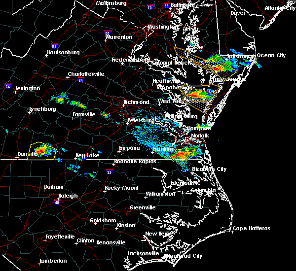 Radar Image for Severe Thunderstorms near Suffolk, VA at 8/9/2019 5:32 PM EDT