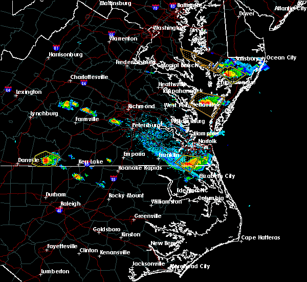 Radar Image for Severe Thunderstorms near Virginia Beach, VA at 8/9/2019 5:46 PM EDT