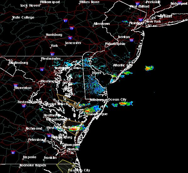 Radar Image for Severe Thunderstorms near Pocomoke City, MD at 8/9/2019 5:53 PM EDT