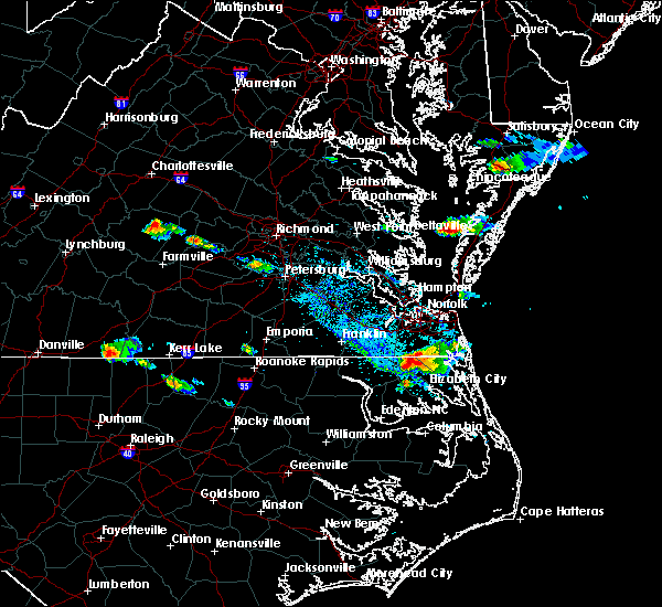 Radar Image for Severe Thunderstorms near Virginia Beach, VA at 8/9/2019 5:53 PM EDT