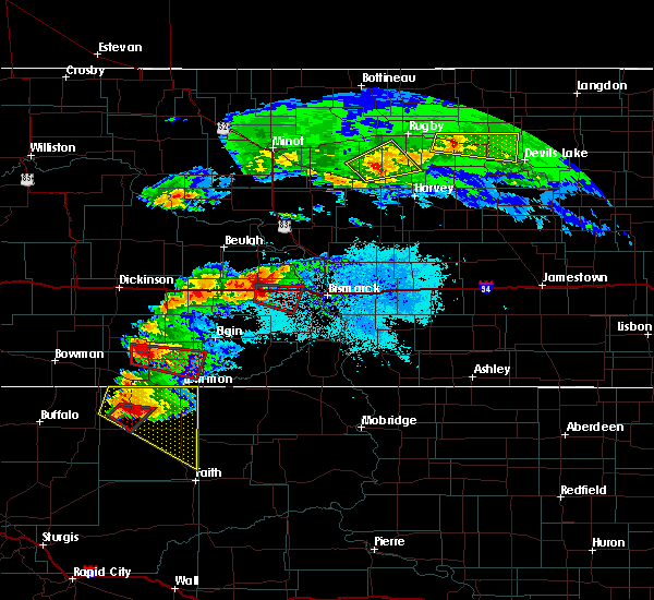 Radar Image for Severe Thunderstorms near New Salem, ND at 6/21/2015 8:17 PM CDT