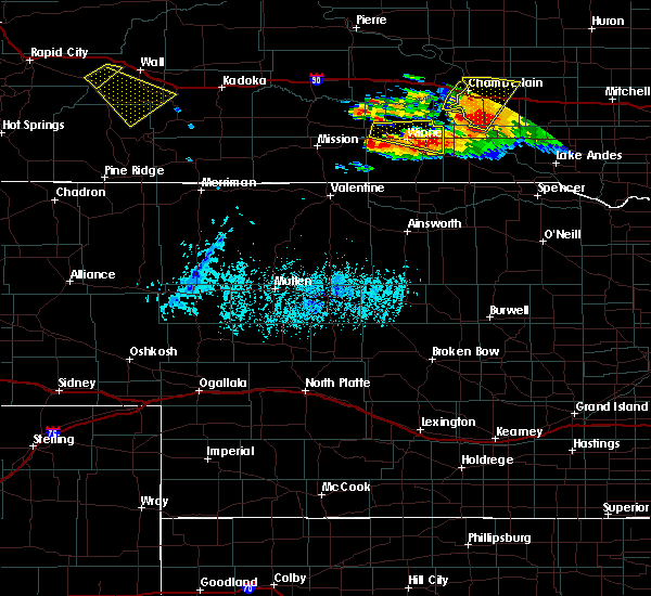 Radar Image for Severe Thunderstorms near Platte, SD at 8/9/2019 6:30 PM CDT
