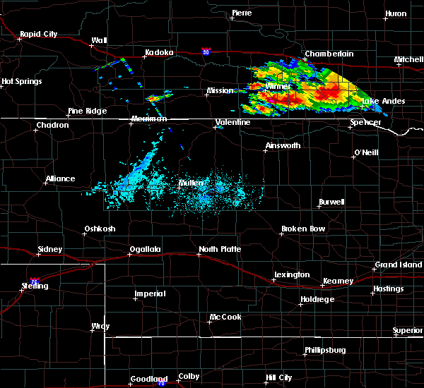 Radar Image for Severe Thunderstorms near St. Charles, SD at 8/9/2019 7:06 PM CDT