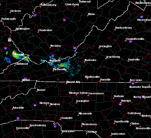 Radar Image for Severe Thunderstorms near Hiwassee, VA at 8/9/2019 8:10 PM EDT