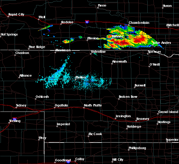 Radar Image for Severe Thunderstorms near St. Charles, SD at 8/9/2019 7:12 PM CDT