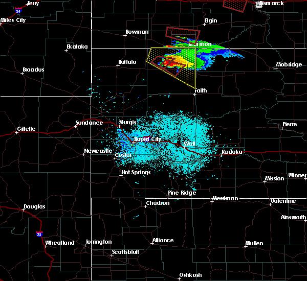Radar Image for Severe Thunderstorms near Bison, SD at 6/21/2015 7:29 PM MDT
