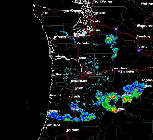 Radar Image for Severe Thunderstorms near Madras, OR at 8/9/2019 5:23 PM PDT