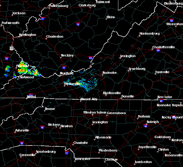 Radar Image for Severe Thunderstorms near Hiwassee, VA at 8/9/2019 8:34 PM EDT