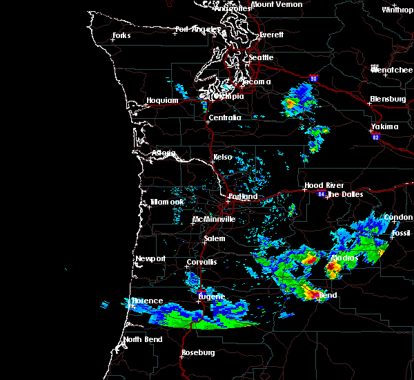 Radar Image for Severe Thunderstorms near Madras, OR at 8/9/2019 5:42 PM PDT